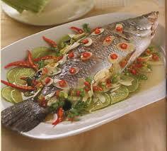 ปลานึ่งพริกมะนาว